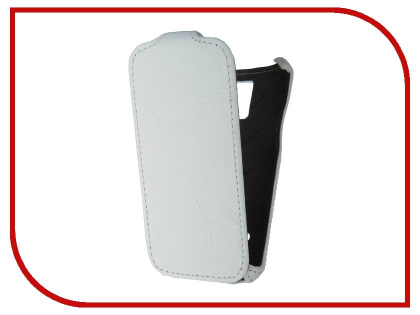 Аксессуар Чехол Abilita for Samsung SM-G800F Galaxy S5 mini кожаный White Naplac ASAMGS5MINI<br>