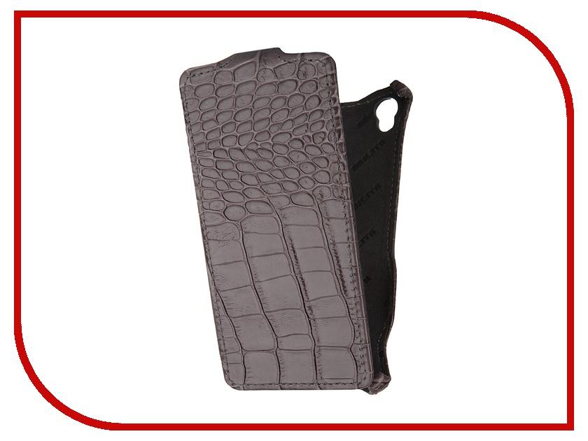 Аксессуар Чехол Abilita for Sony Xperia Z3 D6603 кожаный Grey Crocodile ASXZ3D6603<br>