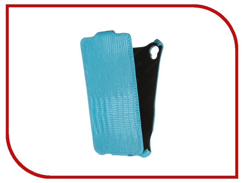 Аксессуар Чехол Sony Xperia Z3 D6603 Abilita кожаный Turquoise Lizard ASXZ3D6603<br>