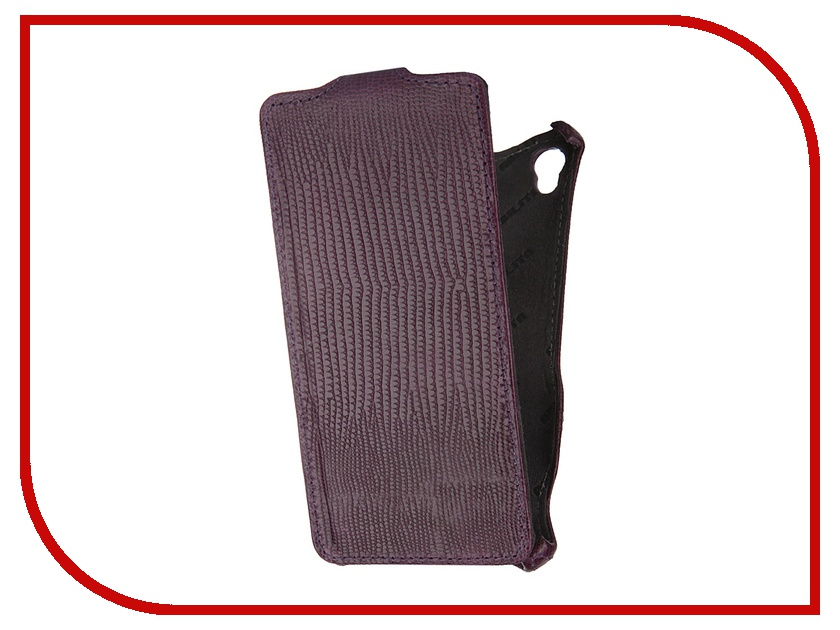 Аксессуар Чехол Abilita for Sony Xperia Z3 D6603 кожаный Purple Crocodile ASXZ3D6603<br>