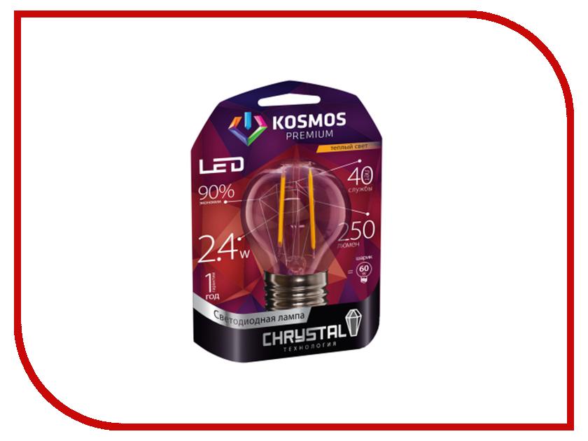 Лампочка Космос Premium Золотая Нить KLED2.4wGL45E1427GF<br>