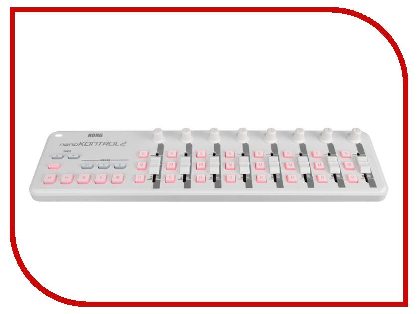 MIDI-контроллер KORG NANOKONTROL2-WH midi контроллер alesis sample pad