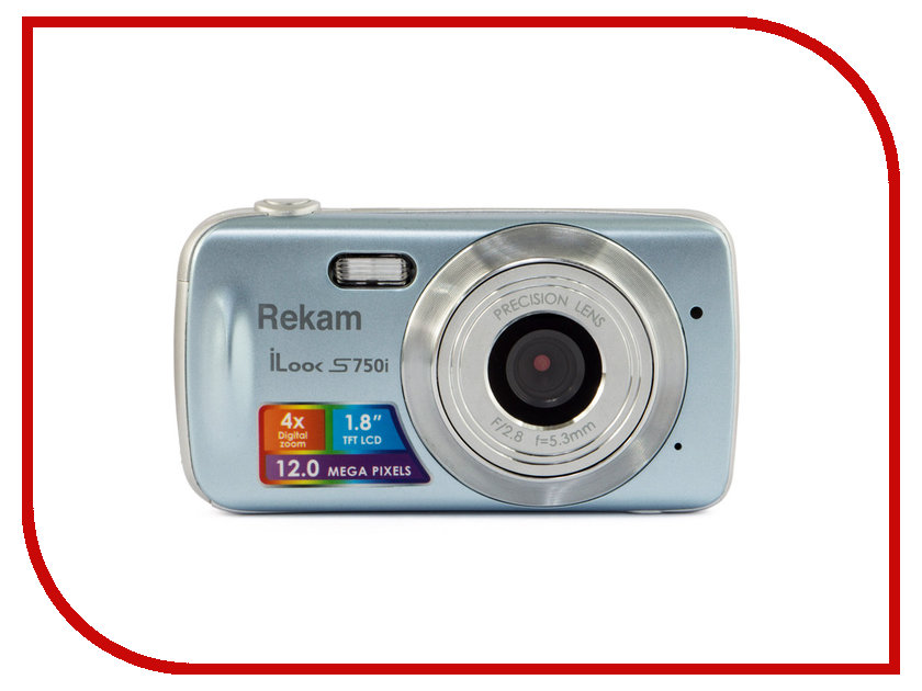 Фотоаппарат Rekam iLook S750i Metallic Grey rekam ilook s750i black цифровая фотокамера