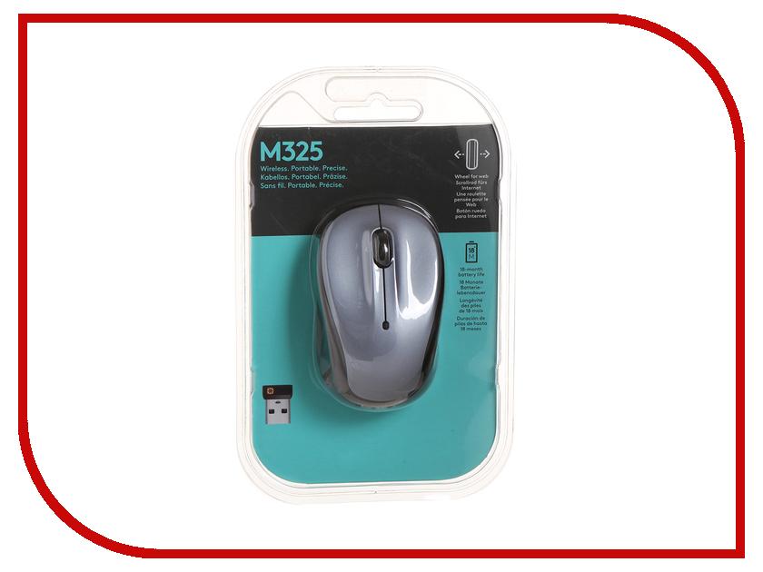 Мышь беспроводная Dell / Logitech M325 Light Silver 910-002334