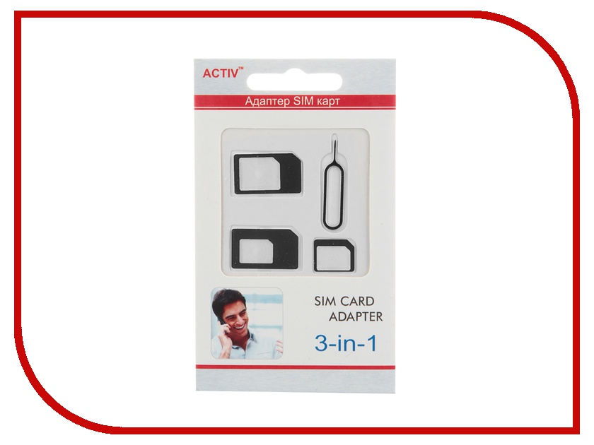 Аксессуар Activ SIM 3 in 1 Black 29804