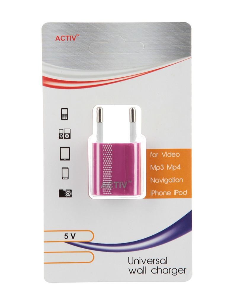 Зарядное устройство Activ TAU1-1.5A-01 1.5A Pink 36009