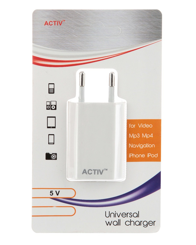 Зарядное устройство Activ TAU1-1.5A-02 1.5A White 36012