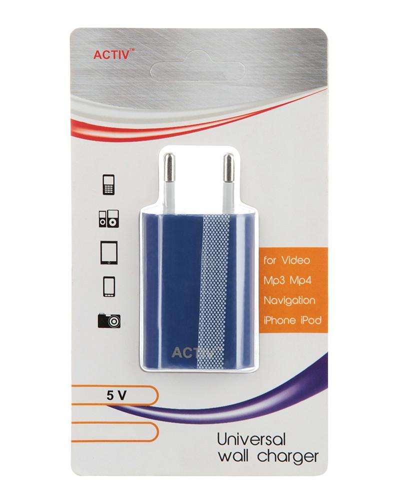 Зарядное устройство Activ TAU1-1.5A-02 1.5A Blue 36013