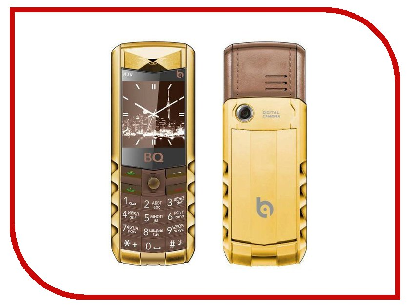Сотовый телефон BQ BQM-1406 Vitre Gold Edition Brown