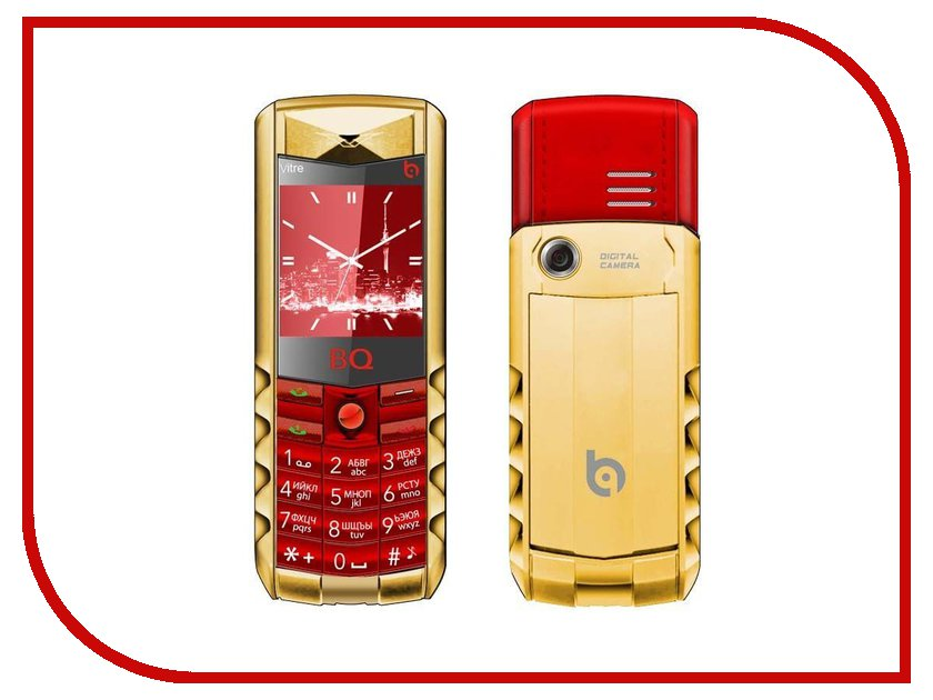 Сотовый телефон BQ BQM-1406 Vitre Gold Edition Red