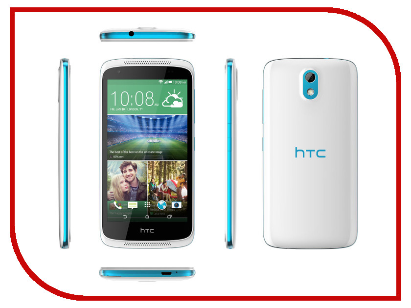 Сотовый телефон HTC Desire 526G Dual Sim White-Blue htc u ultra sapphire blue 64gb