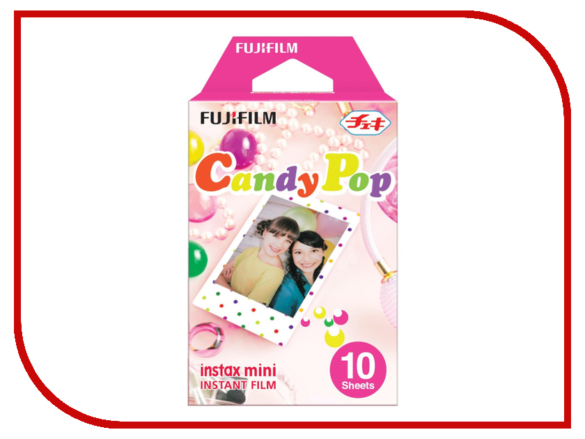 FujiFilm Colorfilm Candypop 10/1PK для Instax mini 8/7S/25/50S/90 / Polaroid 300 Instant 16321418 genuine 50 sheets white fuji instax film fujifilm instax mini 8 film for 7 7s 8 9 50s 7s 90 25 share sp 1 sp 2 3 instant camera
