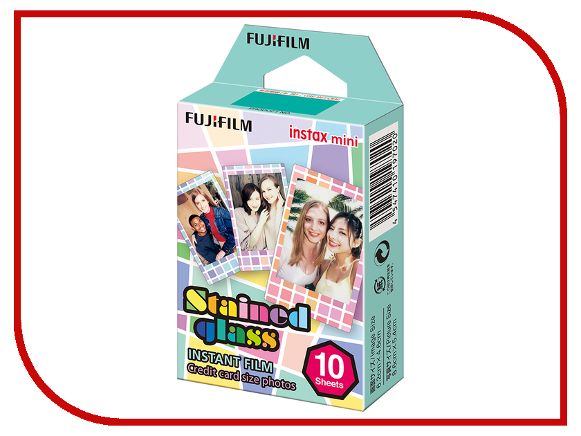 FujiFilm Colorfilm Stained Glass 10/1PK для Instax mini 8/7S/25/50S/90 / Polaroid 300 Instant 16203733