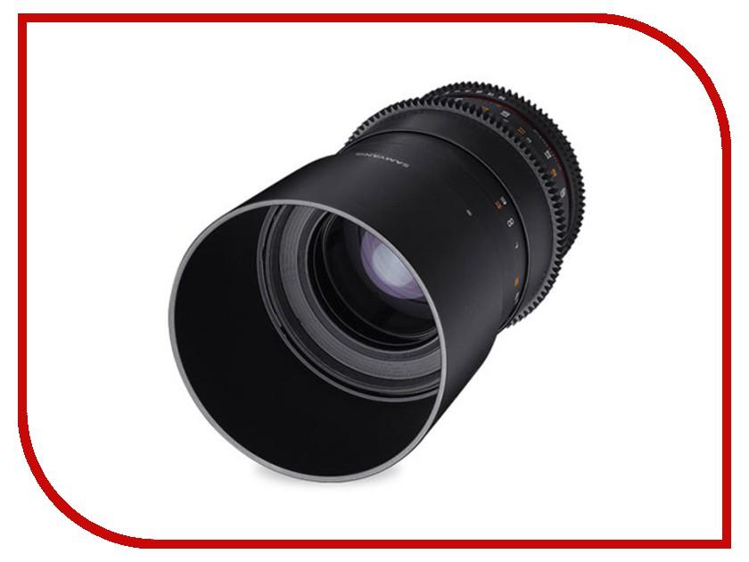 Объектив Samyang Sony E NEX MF 100 mm T3.1 ED UMC Macro VDSLR объектив samyang sony e nex 50 mm f 1 2 as umc cs