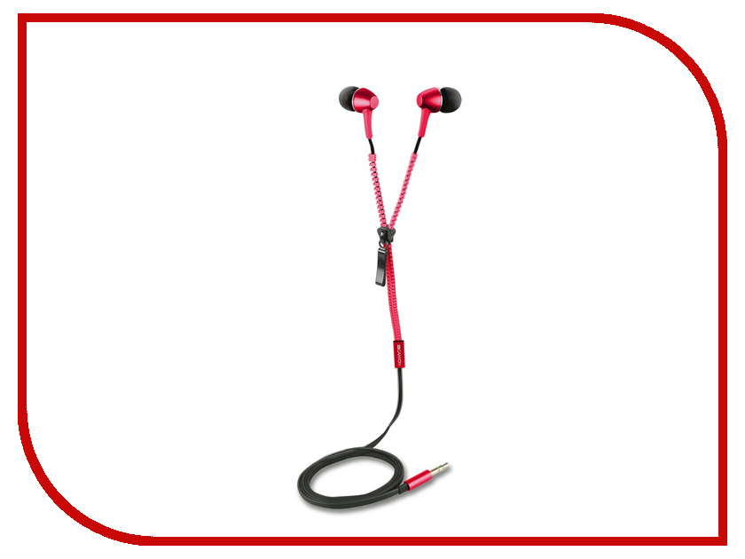 Гарнитура Canyon Zipper Cable Earphones Red CNS-TEP1R<br>