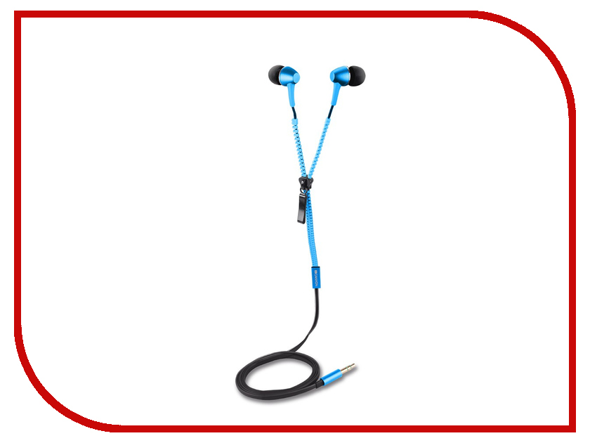 Гарнитура Canyon Zipper Cable Earphones Blue CNS-TEP1BL<br>