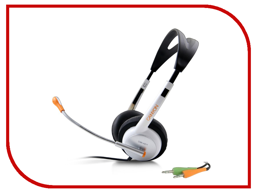 Гарнитура Canyon Stereo Headset White-Silver CNR-HS11NA