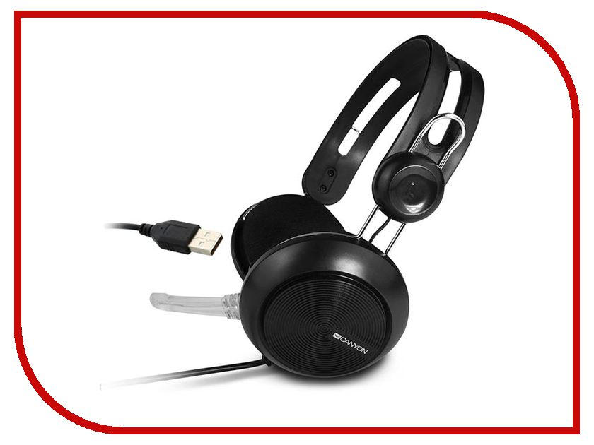 ��������� Canyon Simple USB Headset Black CNE-CHSU1B