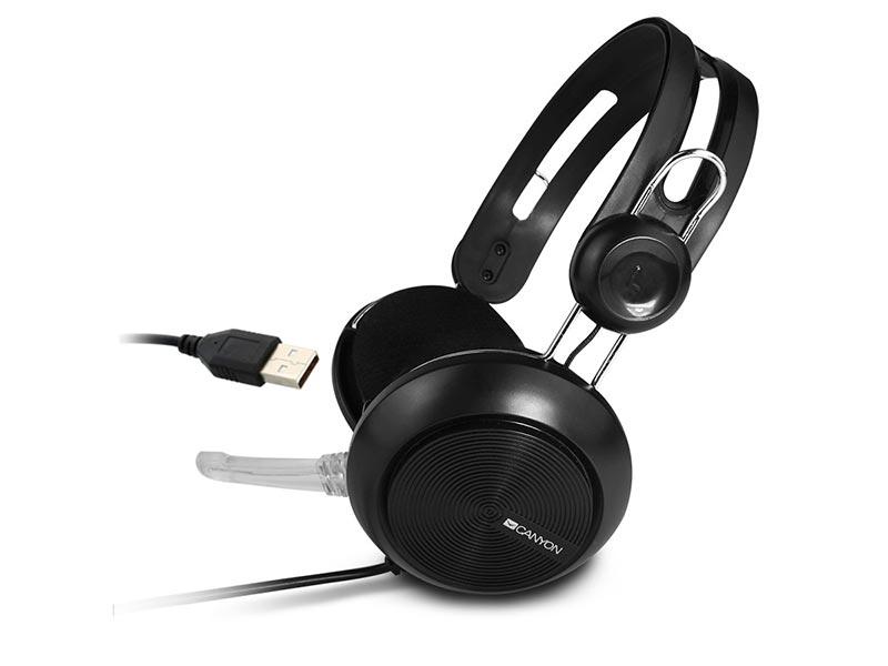 Canyon Simple USB Headset Black CNE-CHSU1B canyon cne cspb26r