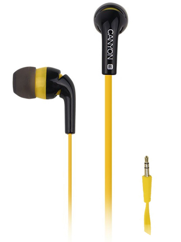 Наушники Canyon Fashion Earphones Yellow CNS-CEP2Y<br>