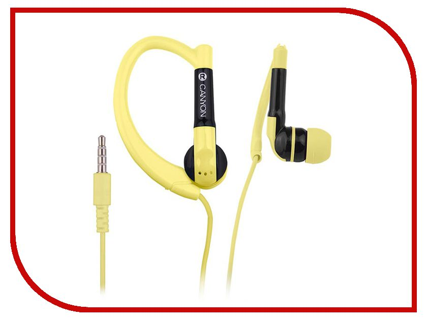 Гарнитура Canyon Sport Earphones Yellow CNS-SEP1Y<br>