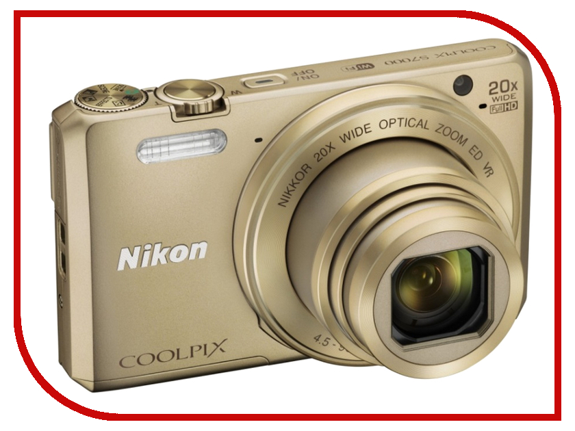 Фотоаппарат Nikon S7000 Coolpix Gold nikon coolpix p900 black цифровая фотокамера