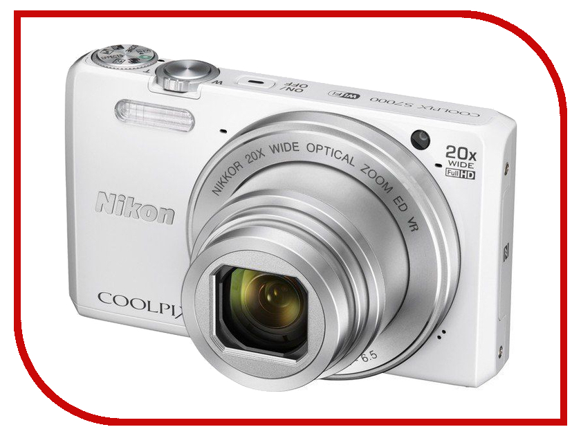 Zakazat.ru: Фотоаппарат Nikon S7000 Coolpix White