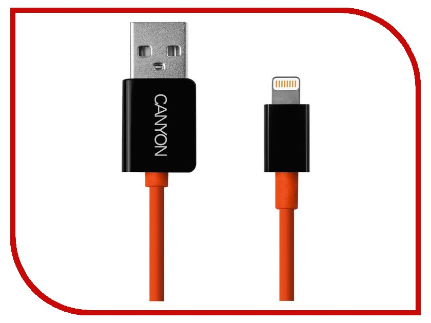 ��������� Canyon Style Lightning to USB Cable 1m Orange-Black CNS-CLTUC3OB 7PCNSCLTUC3OB