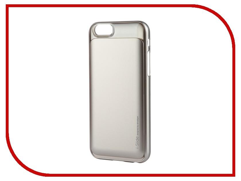 Skinplayer - Аксессуар Клип-кейс Skinplayer i-Slide для iPhone 6 Gold