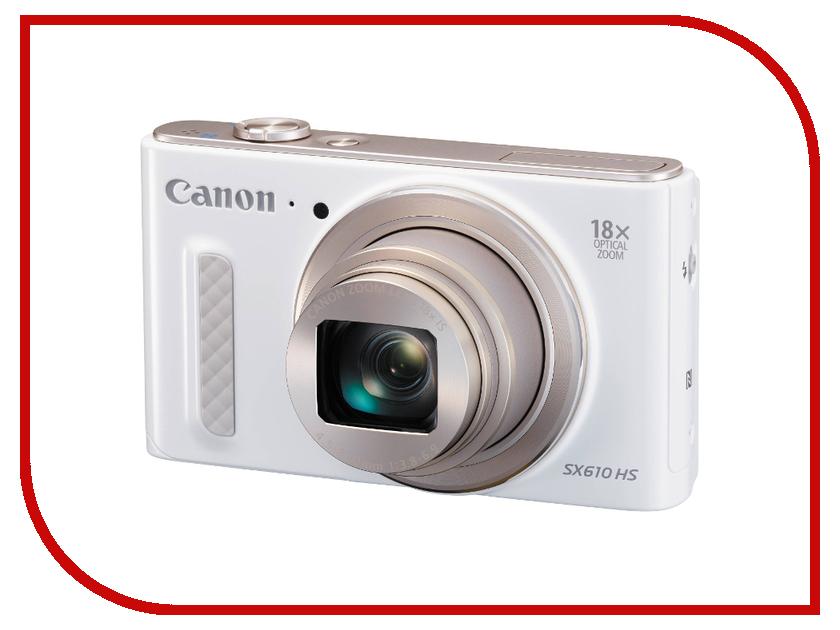Фотоаппарат Canon PowerShot SX610 HS White фотоаппарат canon powershot sx610 hs black