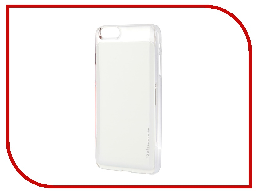 Skinplayer - Аксессуар Клип-кейс Skinplayer i-Slide для iPhone 6 Plus Transparent-White