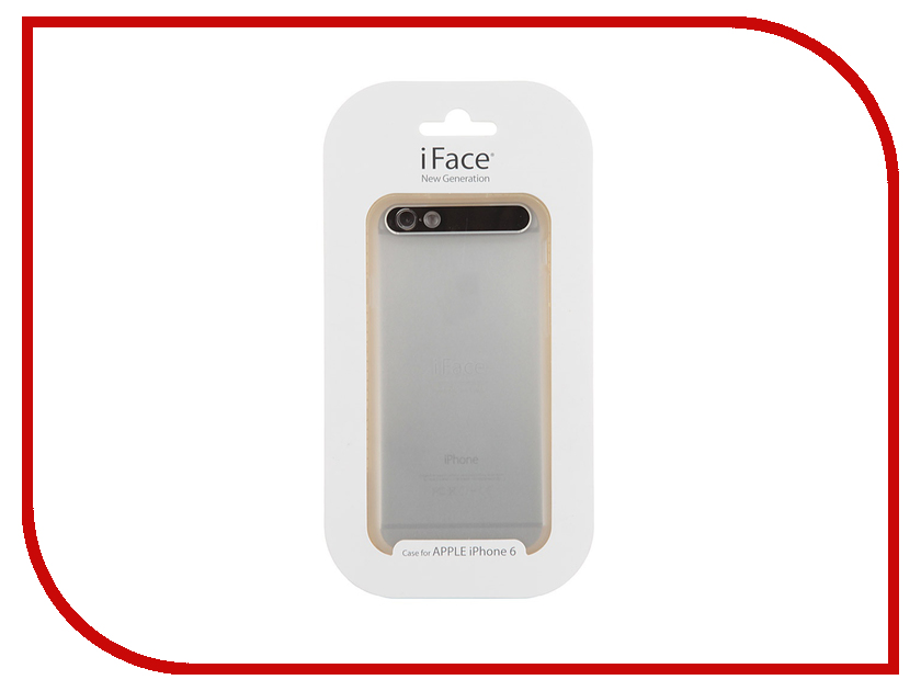 Аксессуар Чехол iFace New Generation Translucence для iPhone 6 Transparent-Black<br>