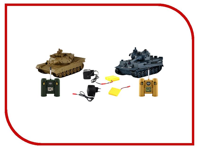 Радиоуправляемая игрушка Пламенный мотор 1:28 TIGER vs Abrams M1A2 87552<br>