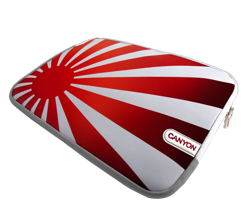 Аксессуар Сумка 10.0-inch Canyon CNL-NB10J White-Grey with Red Rising Sun SBCNLNB10J<br>