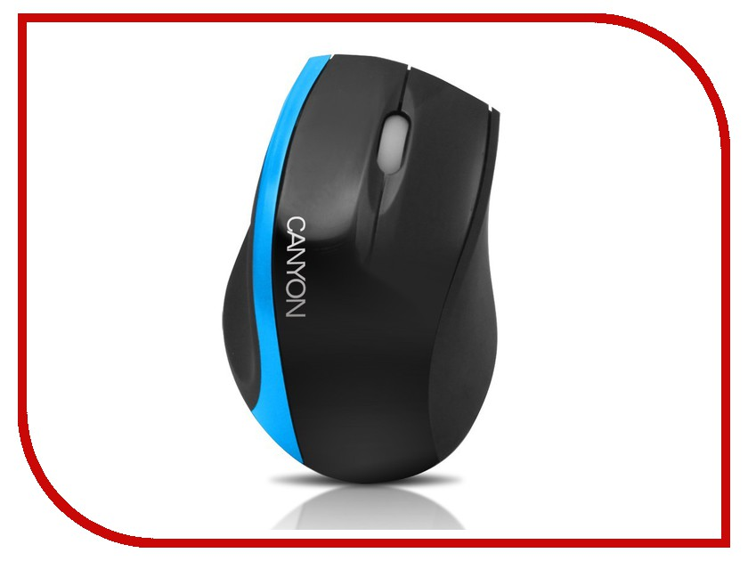 Мышь проводная Canyon CNR-MSO01NBL Black-Blue 91CNRMSO01NBL<br>