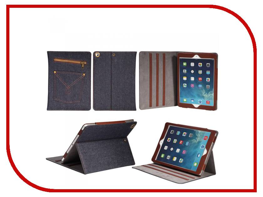 Аксессуар Чехол APPLE iPad Air 9.7 IT Baggage иск. кожа Jeans Black-Blue ITIPAD508-3
