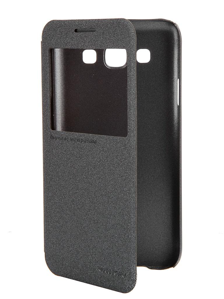 Аксессуар Чехол Samsung Galaxy E5 Nillkin Sparkle Leather Case Black T-N-SGE5-009