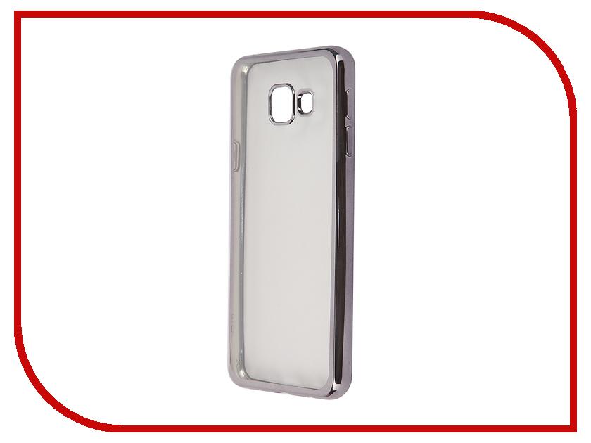 Аксессуар Чехол-накладка Samsung Galaxy A3 (2016) SkinBox Silicone Chrome Border 4People Dark Silver T-S-SGA32016-008<br>