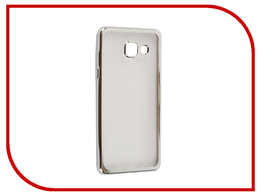 Аксессуар Чехол-накладка для Samsung Galaxy A5 2016 SkinBox Silicone Chrome Border 4People Silver T--SGA52016-008