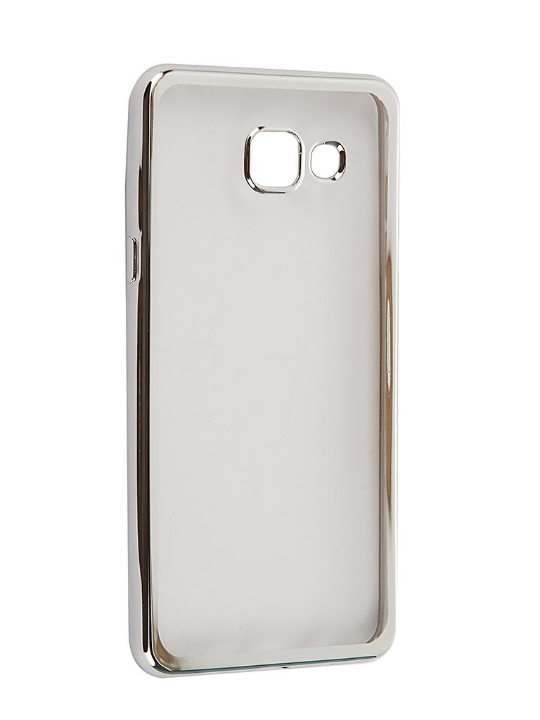 Аксессуар Чехол-накладка SkinBox для Samsung Galaxy A5 2016 Silicone Chrome Border 4People Silver T-S-SGA52016-008 смартфон samsung galaxy a5 2016 4g 16gb black