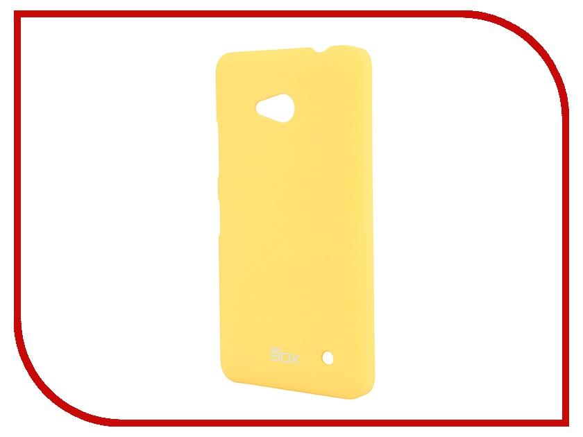 Аксессуар Чехол-накладка Microsoft Lumia 640 SkinBox Shield 4People Yellow T-S-ML640-002<br>
