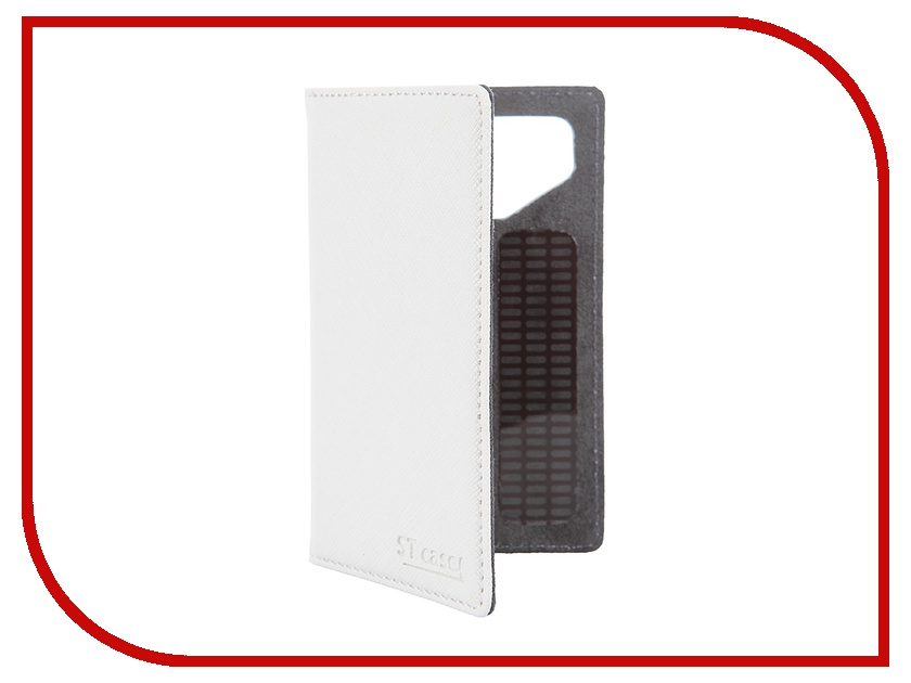 Аксессуар Чехол-книжка 3.5-3.9 ST Case иск. кожа White ST-c-SM3.5-3.9-WHT-LTH<br>
