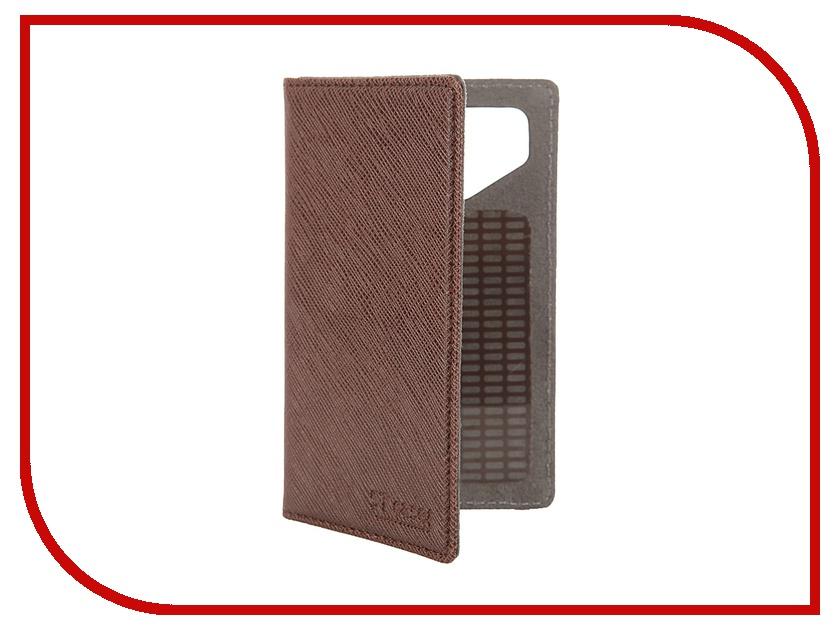 Аксессуар Чехол-книжка 3.5-3.9 ST Case иск. кожа Brown ST-c-SM3.5-3.9-BRN-LTH