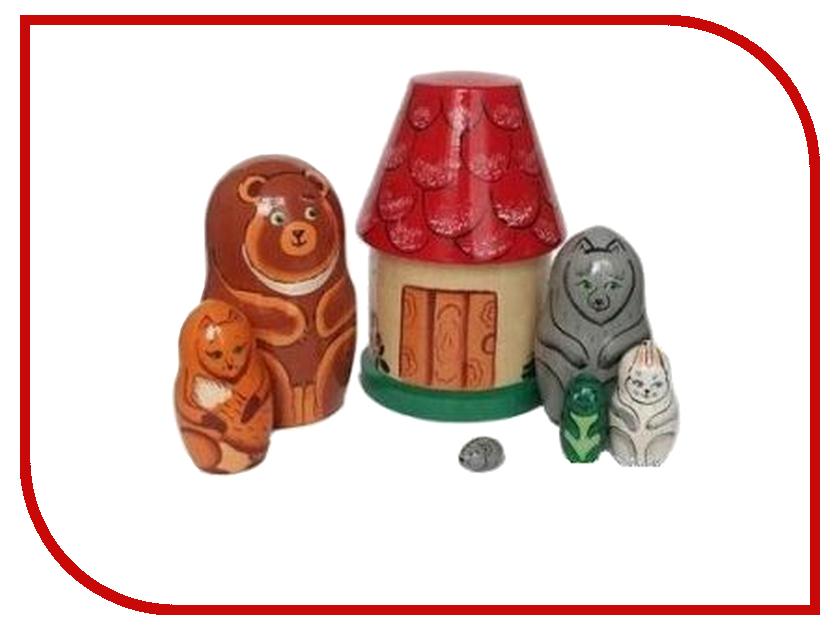 Матрешка Бэмби Теремок Р-45/750 деревянные игрушки бэмби матрешка красная шапочка 7705