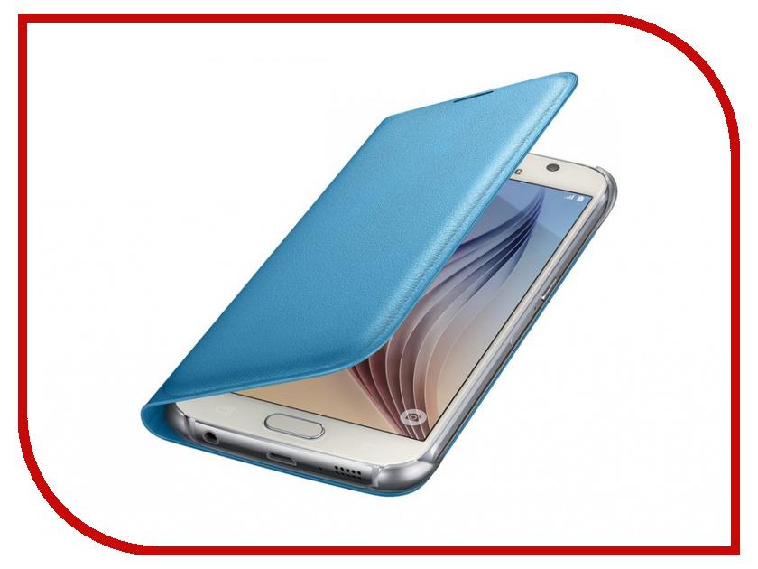 Аксессуар Чехол Samsung SM-G920 Galaxy S6 Flip Wallet Blue EF-WG920PLEGRU<br>