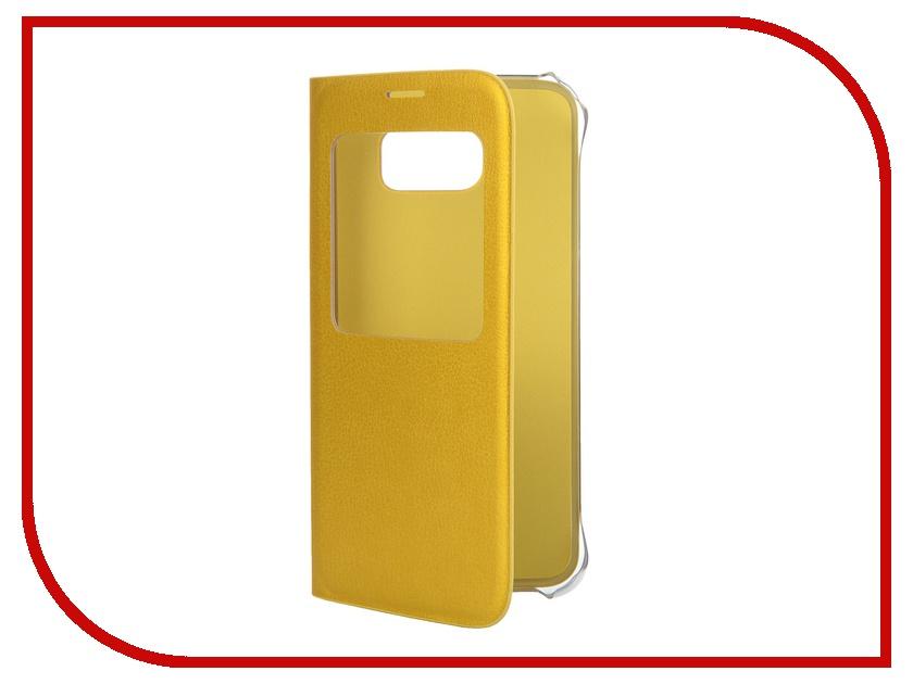 Аксессуар Чехол Samsung SM-G920 Galaxy S6 S-View Yellow EF-CG920PYEGRU<br>