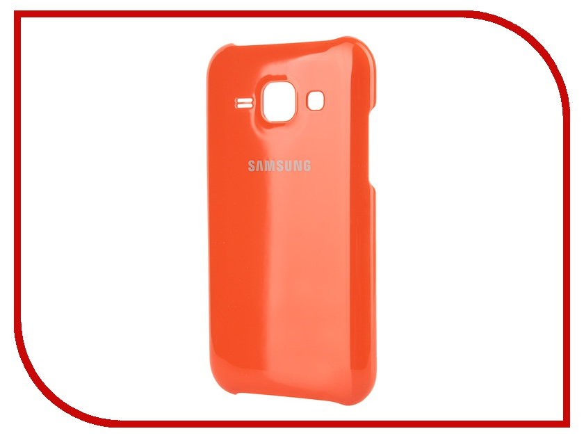 Аксессуар Чехол-накладка Samsung SM-J100F Galaxy J1 Protective Cover Orange EF-PJ100BOEGRU