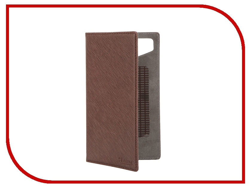 Аксессуар Чехол-книжка ST Case 5.5-6-inch иск. кожа Brown ST-c-SM5.5-6-BRN-LTH<br>