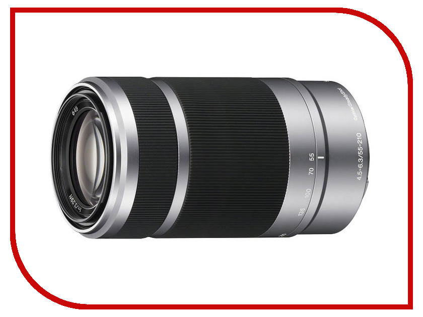 Объектив Sony SEL-55210 55-210 mm F/4.5-6.3 OSS for NEX Silver*<br>
