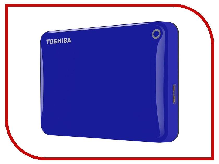 внешние HDD/SSD HDTC805EL3AA  Жесткий диск Toshiba Canvio Connect II 500Gb Blue HDTC805EL3AA